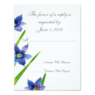 "RSVP wedding cards and invitations 4.25"" X 5.5"" Invitation Card"