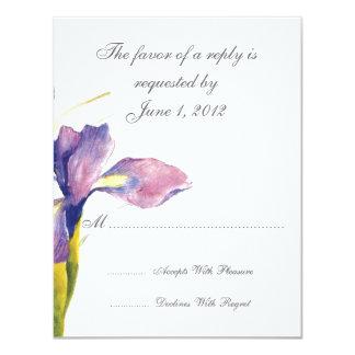 "RSVP wedding cards and invitations 4.25"" X 5.5"" Invitation Card"