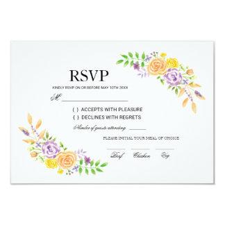 RSVP Wedding Cards Floral Flowers Insert Cards