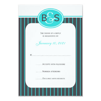 RSVP Wedding Invitation -- Blue Monogram