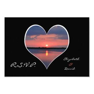 RSVP Wedding Invitation - Sunset in Heart