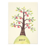 RSVP Wedding Monogram Apple Tree Carving Personalised Announcements