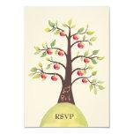 RSVP Wedding Monogram Apple Tree Carving Personalised Announcements