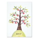 RSVP Wedding Monogram Apple Tree Carving Personalized Announcement