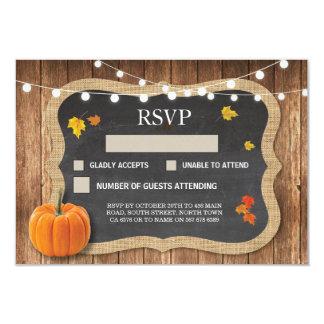 RSVP Wedding Rustic Chalk Pumpkin Respond Cards