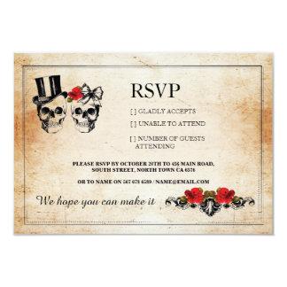 RSVP Wedding Skulls Skull Roses Rustic Cards
