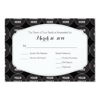RSVP wedding template 9 Cm X 13 Cm Invitation Card
