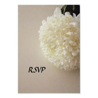 Rsvp White Flowers Wedding Invitations Announcements