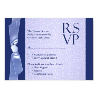 "RSVP (with food) Jewish Wedding Flat Card 3.5"" X 5"" Invitation Card"