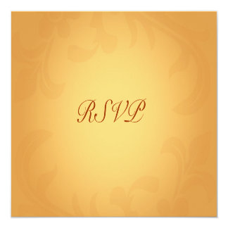 """RSVP """"with food options"""" Cards 13 Cm X 13 Cm Square Invitation Card"""