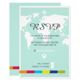 Rsvp World Travel Wedding Card