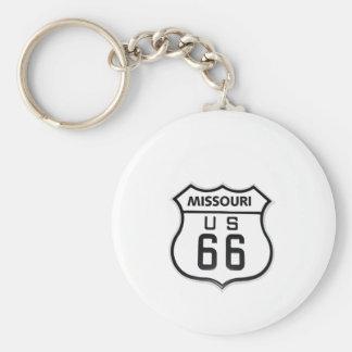 RT 66 Missouri Key Ring
