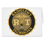 RT RADIOLOGY TECHNICIAN BADGE - LOGO GREETING CARDS
