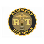 RT RADIOLOGY TECHNICIAN BADGE - LOGO POST CARDS