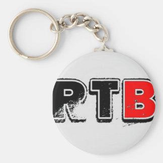 RTB Bold Logo RealTalkwithBrandon Basic Round Button Key Ring