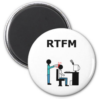 RTFM REFRIGERATOR MAGNETS