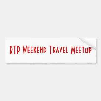 RTP Weekend Travel Meetup Bumper Sticker