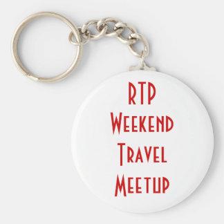 RTP Weekend Travel Meetup Keychain