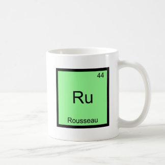 Ru - Rousseau Funny Element Chemistry Symbol Tee Basic White Mug