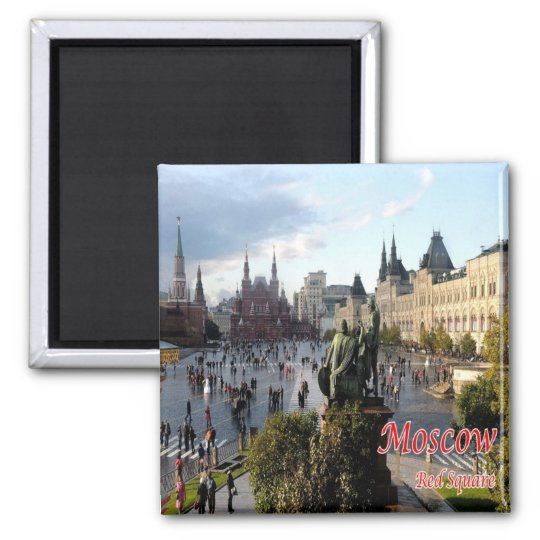 RU - Russia - MOSCOW - RED SQUARE Square Magnet
