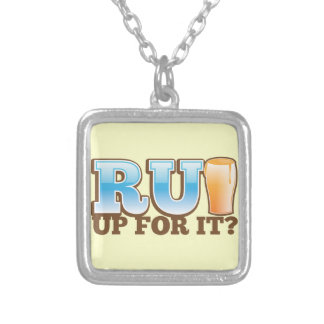 RU Up for it? BEER! Silver Plated Necklace