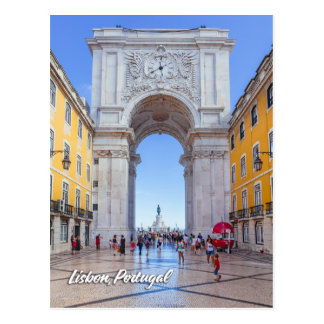 Rua Augusta Arch in Lisbon Postcard