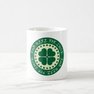 Rub Here For Luck Basic White Mug