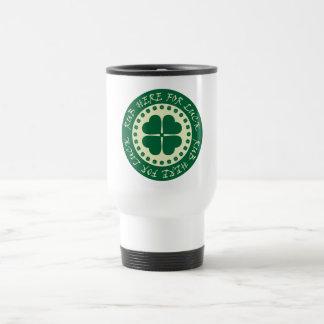 Rub Here For Luck Stainless Steel Travel Mug