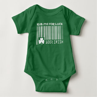 Rub me for Luck. St. Patrick's Day Baby Bodysuits, Baby Bodysuit