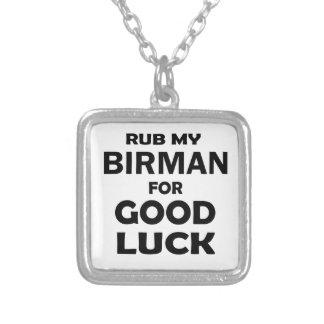 Rub my Birman for good luck Square Pendant Necklace