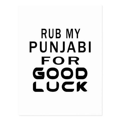 Rub My Punjabi Cat For Good Luck Postcard