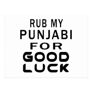 Rub My Punjabi Cat For Good Luck Postcard