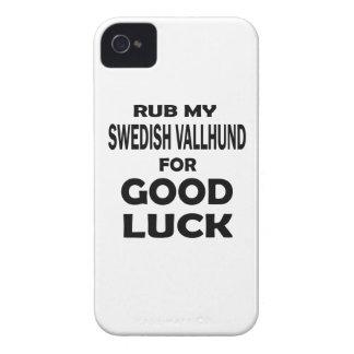 Rub my Swedish Vallhund for good luck Case-Mate iPhone 4 Case