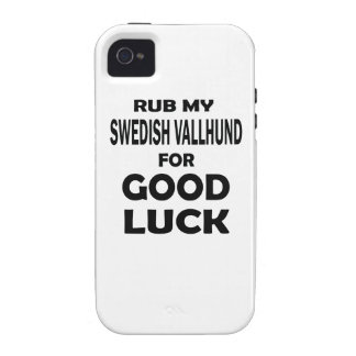 Rub my Swedish Vallhund for good luck iPhone 4/4S Covers