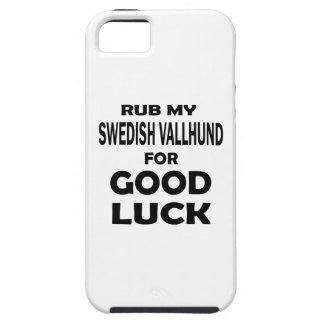 Rub my Swedish Vallhund for good luck iPhone 5 Cases