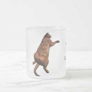 Rub My Tummy 10 Oz Frosted Glass Coffee Mug