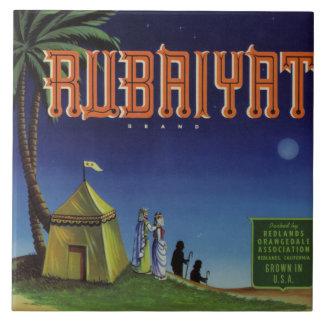 Rubaiyat Fruit Crate Label Tile