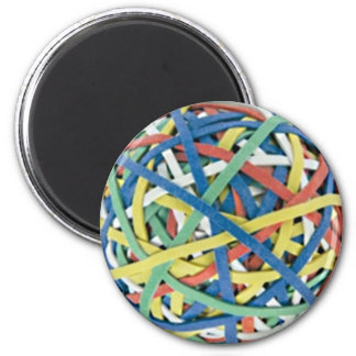 Rubber Band Ball 6 Cm Round Magnet