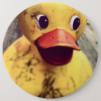 rubber duck 6 cm round badge