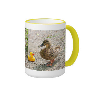 Rubber Duck and Mother Duck Mugs