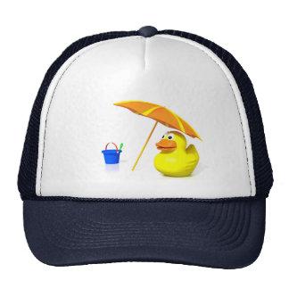 Rubber duck at the beach trucker hats