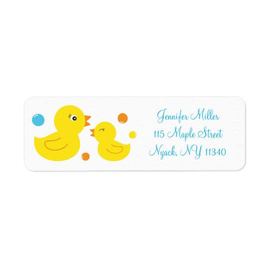 Rubber Duck Baby Shower Address