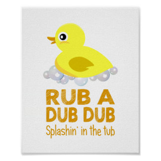Rubber Duck Baby Wall Art Poster