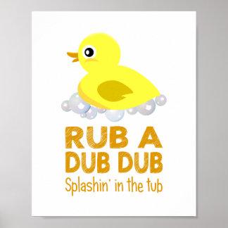 Rubber Duck Baby Wall Art Poster
