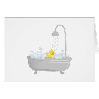 Rubber Duck Bath Greeting Card