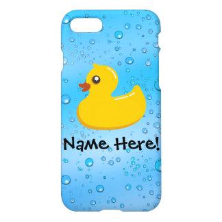 Rubber Duck Blue Bubbles Personalized Kids iPhone 7 Case