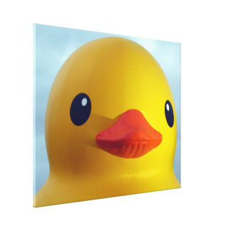 rubber duck gallery wrapped canvas
