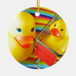 Rubber duck christmas ornament