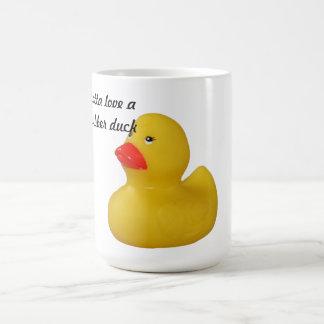 Rubber duck cute fun yellow coffee, tea mug