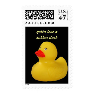 Rubber duck cute fun yellow custom postage stamp